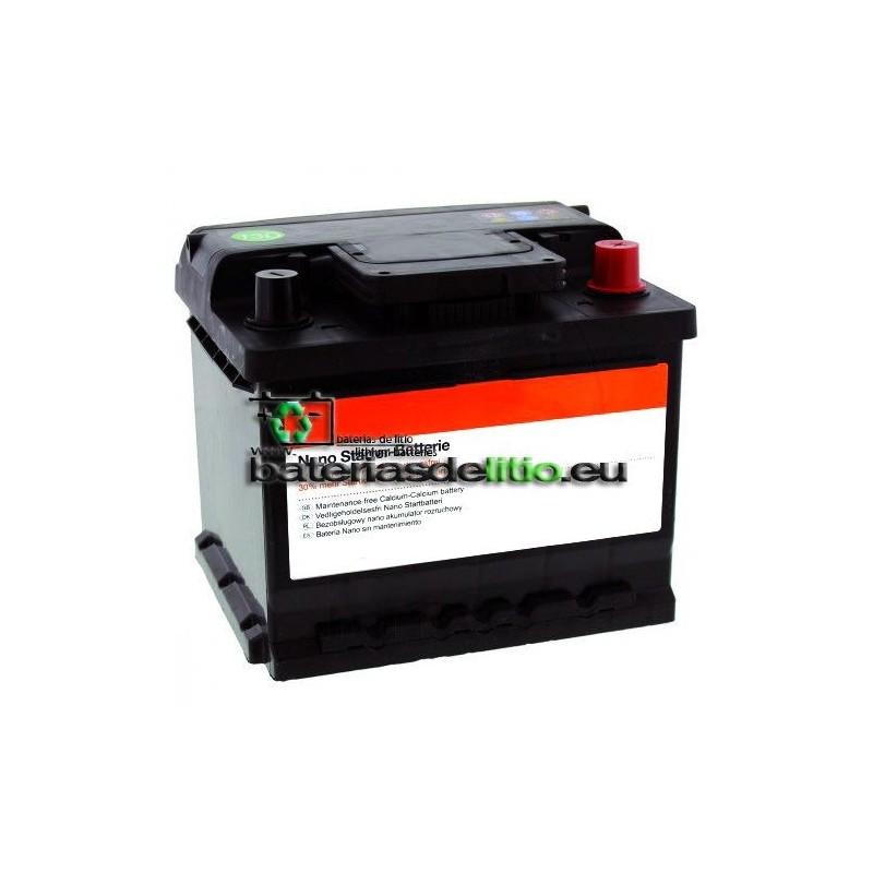 Bateria coche 12v 45Ah Calcio-Plata. Nanotecnología