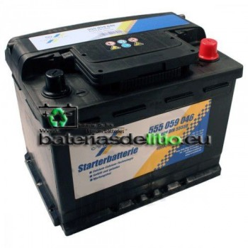 Bateria coche 12v 55Ah. DIN 55559