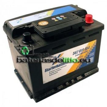Bateria coche 12v 62Ah. DIN 56219