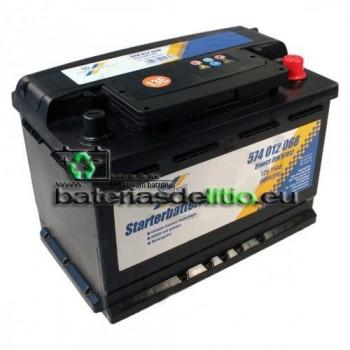 Bateria coche 12v 74Ah. DIN 57412