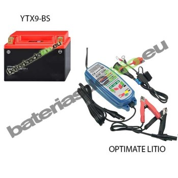 Bateria de litio YTX9-BS + Cargador LITIO