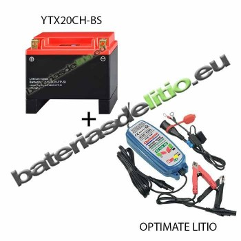 Bateria de litio YTX20CH-BS + Cargador LITIO