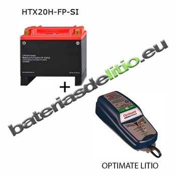 Bateria de litio YTX20H-BS + Cargador LITIO 5A