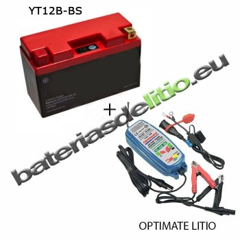 Bateria de litio YT12B-BS + Cargador LITIO