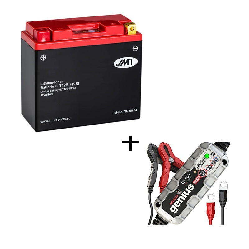 Pack Bateria de litio YT12B-BS + Cargador NOCO Litio