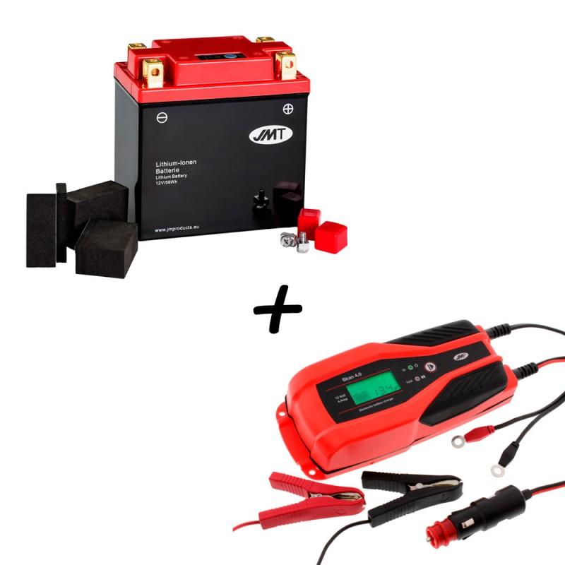 Bateria de litio YTX14AH-BS + Cargador JMP SKAN 4.0 Litio