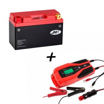 Bateria de litio YT9B-BS + Cargador JMP SKAN 4.0 Litio