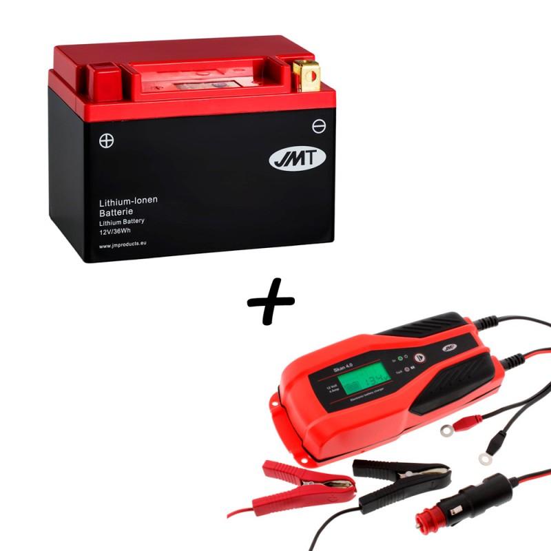 Bateria de litio YTX9-BS + Cargador JMP SKAN 4.0 Litio