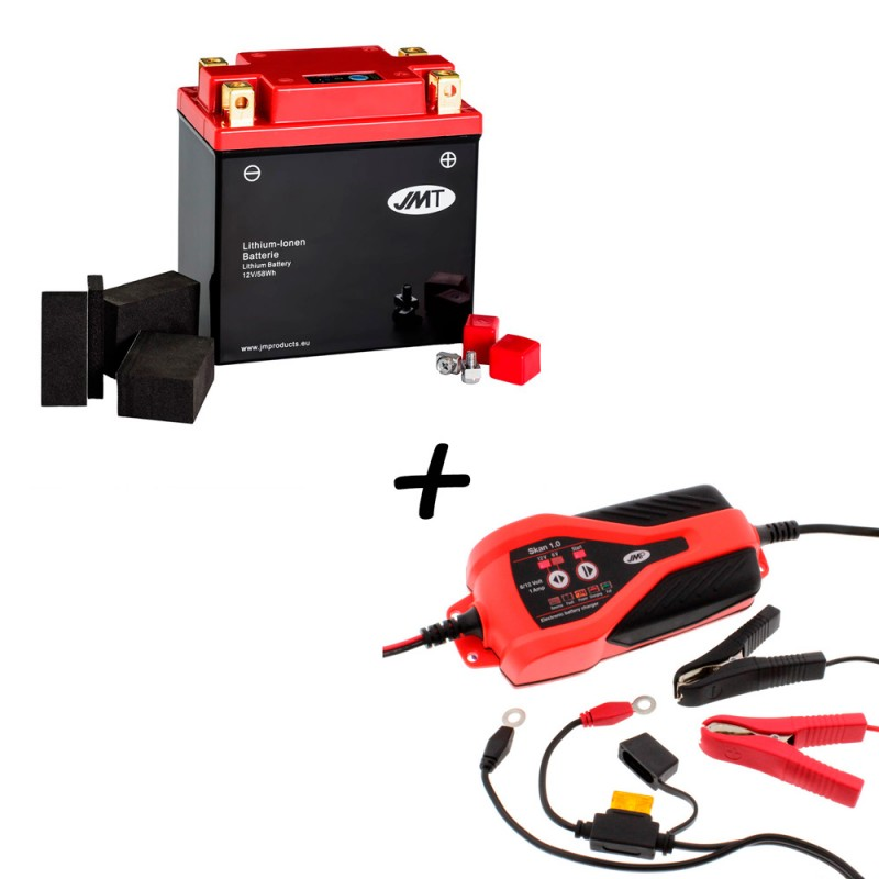 Bateria de litio YTX14AH-BS + Cargador JMP SKAN 1.0 Litio