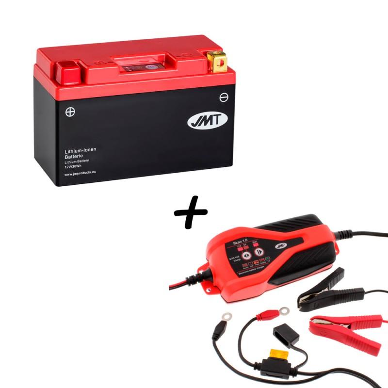 Bateria de litio YT9B-BS + Cargador JMP SKAN 1.0 Litio