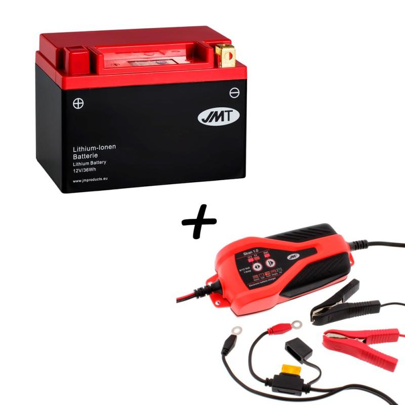 Bateria de litio YTX9-BS + Cargador JMP SKAN 1.0 Litio
