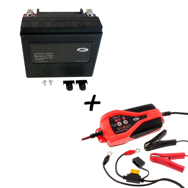 Bateria Harley Davidson BTL-1 65989-97C 97A 97B V-Twin AGM HD Series + Cargador JMP SKAN 1.0 Litio