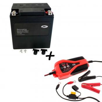 Bateria Harley Davidson BTL-2 65989-97C 97A 97B V-Twin AGM HD Series + Cargador JMP SKAN 1.0 Litio