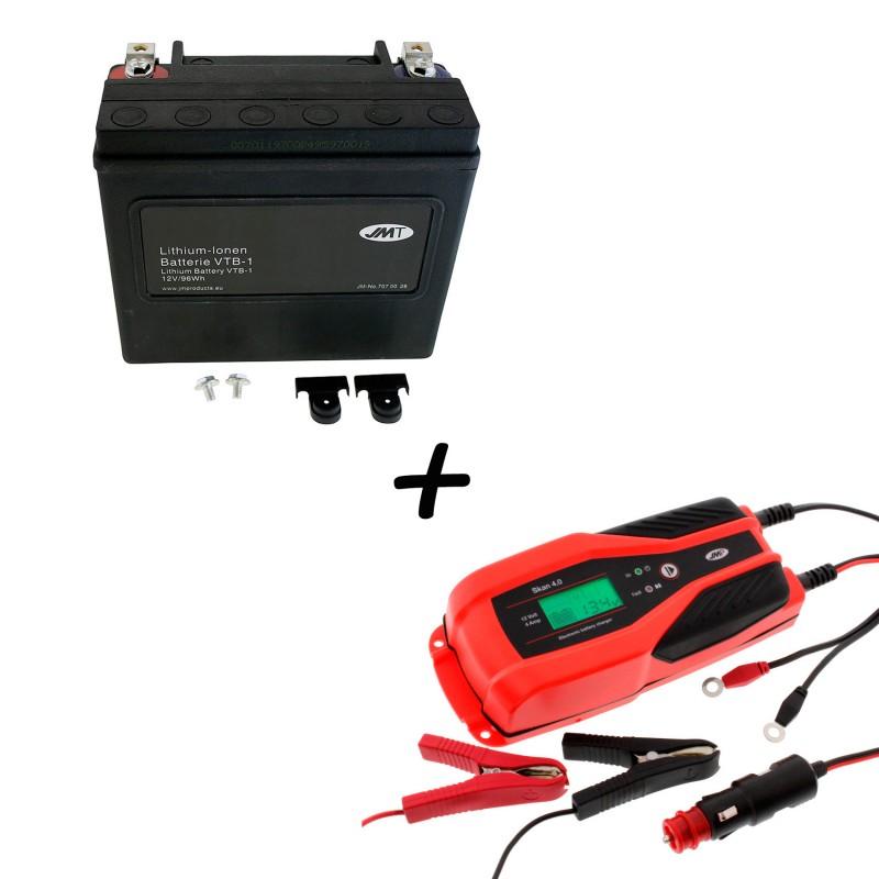 Bateria Harley Davidson BTL-1 65989-97C 97A 97B V-Twin AGM HD Series + Cargador JMP SKAN 4.0 Litio