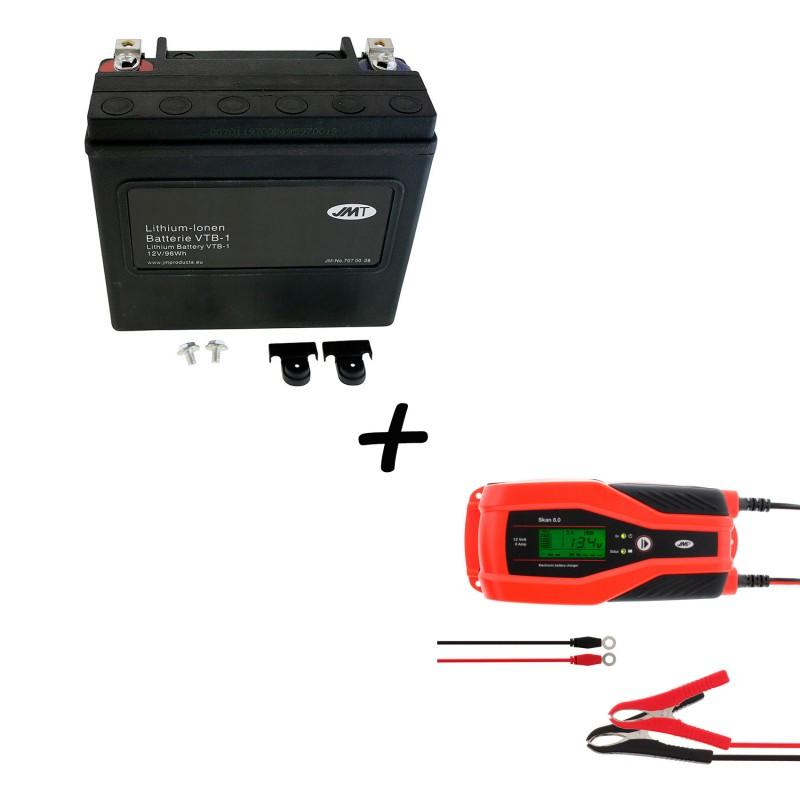 Bateria Harley Davidson BTL-1 65989-97C 97A 97B V-Twin AGM HD Series + Cargador JMP SKAN 8.0 Litio