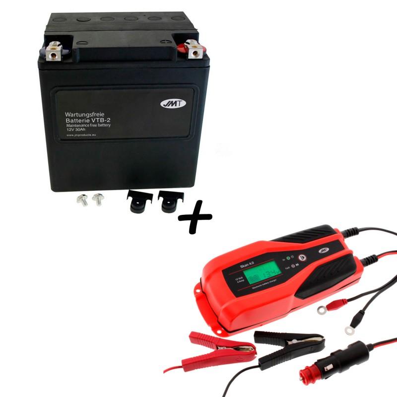 Bateria Harley Davidson BTL-2 65989-97C 97A 97B V-Twin AGM HD Series + Cargador JMP SKAN 4.0 Litio