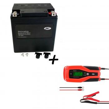 Bateria Harley Davidson BTL-2 65989-97C 97A 97B V-Twin AGM HD Series + Cargador JMP SKAN 8.0 Litio