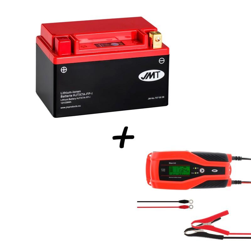 Bateria de Litio YTX7A-BS + Cargador JMP SKAN 1.0 Litio
