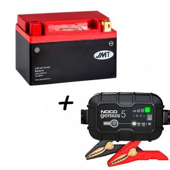 Bateria de litio YTZ10S + Cargador GENIUS5 Litio