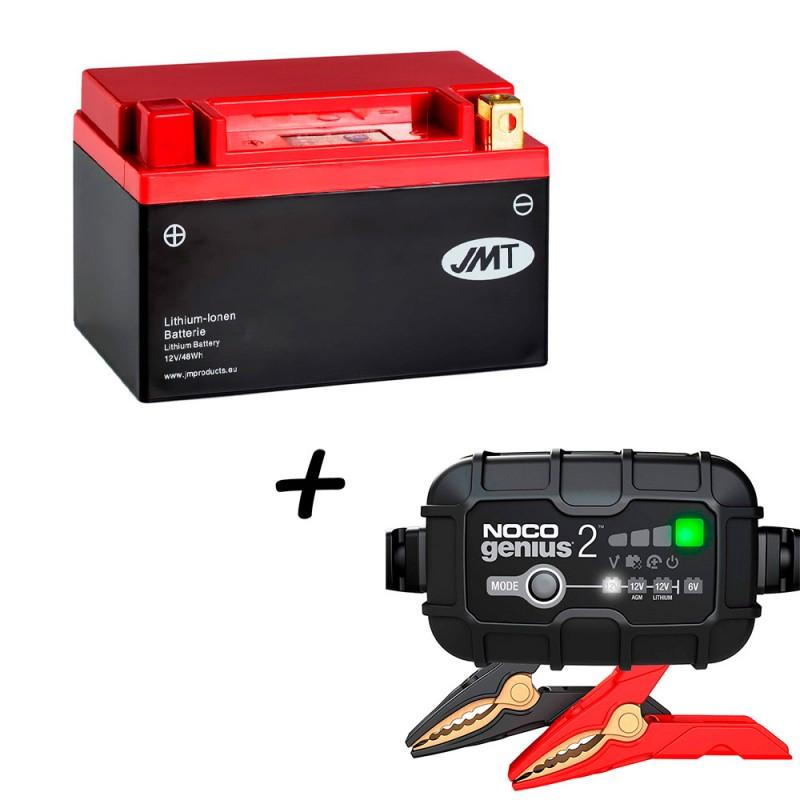 Bateria de litio YTX14-BS + Cargador GENIUS2 Litio