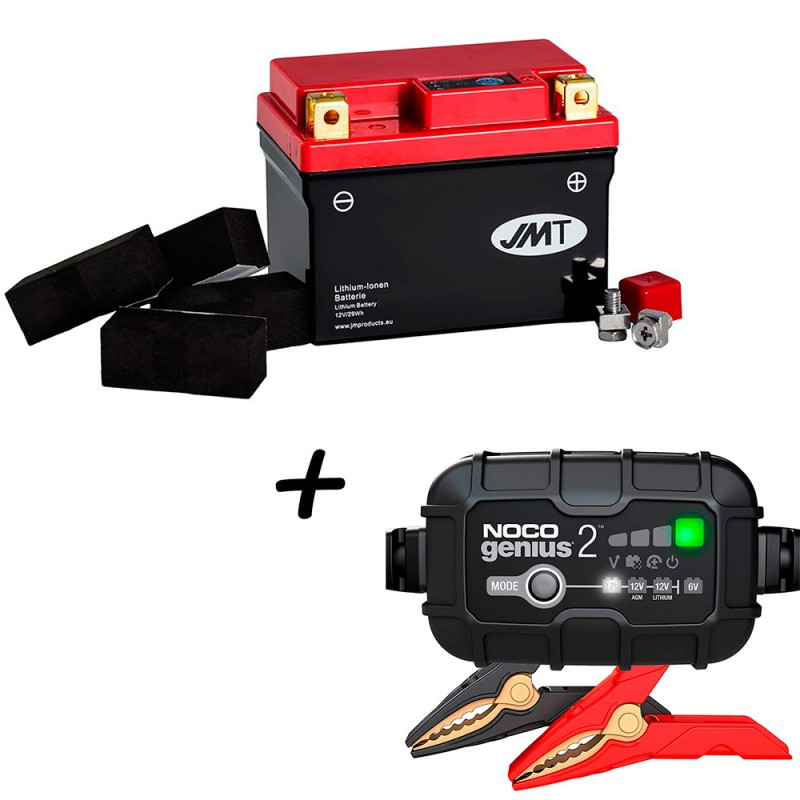 Bateria de litio YTZ7S + Cargador GENIUS2 Litio