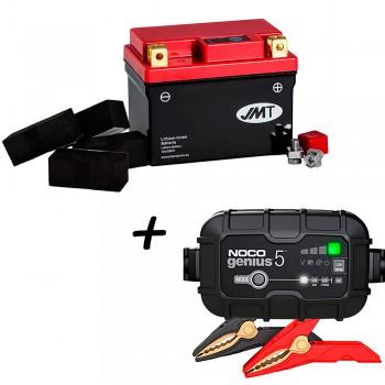 Bateria de litio YTZ7S + Cargador GENIUS5 Litio