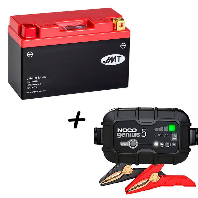 Bateria de litio HJT9B-FP + Cargador GENIUS5 Litio