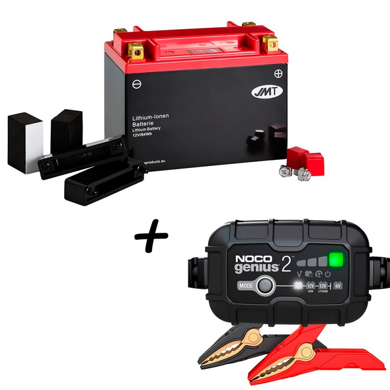 Bateria de litio YTX20H-BS + Cargador GENIUS2 Litio