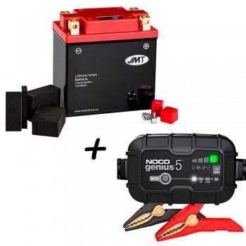 Bateria de litio YTX14AH-BS + Cargador GENIUS5 Litio