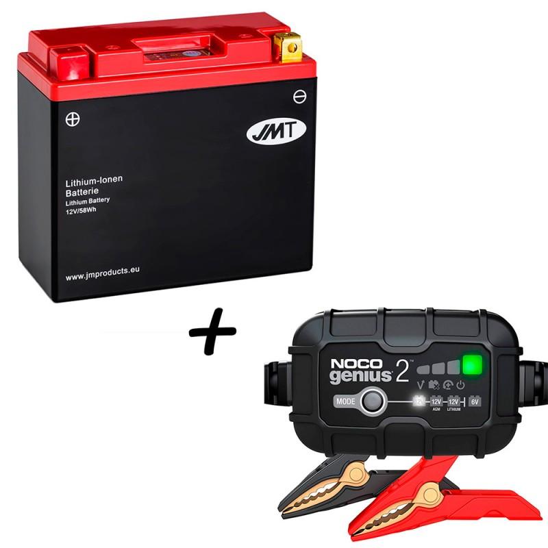 Bateria de litio YT12B-BS + Cargador GENIUS2 Litio