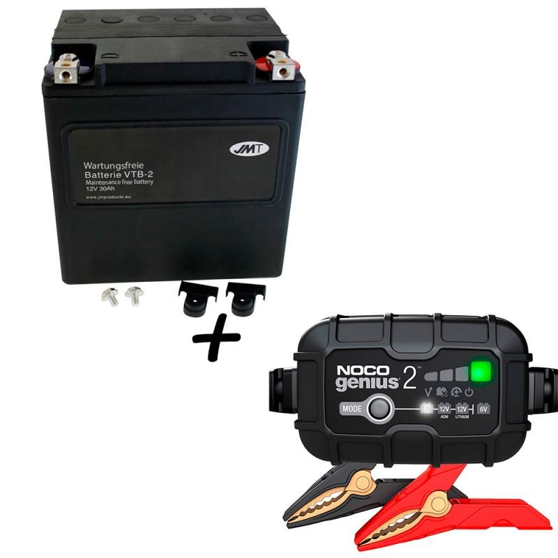 Bateria Harley Davidson BTL-2 65989-97C 97A 97B V-Twin AGM HD Series + Cargador GENIUS2 Litio