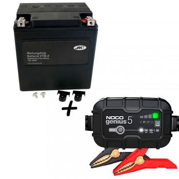 Bateria Harley Davidson BTL-2 65989-97C 97A 97B V-Twin AGM HD Series + Cargador GENIUS5 Litio