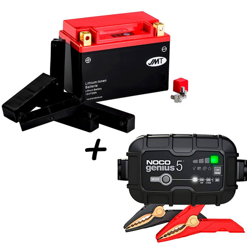 Bateria de litio YTX20CH-BS + Cargador GENIUS5 Litio