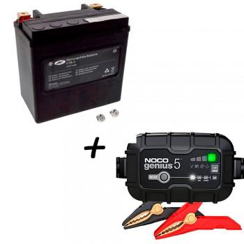 Bateria Harley Davidson BTL-3 65958-04A + Cargador GENIUS5 Litio