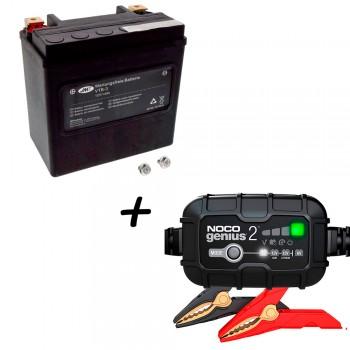 Bateria Harley Davidson BTL-3 65958-04A + Cargador GENIUS2 Litio