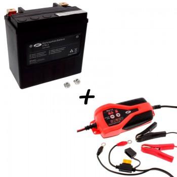 Bateria Harley Davidson BTL-3 65958-04A + Cargador JMP SKAN 1.0 Litio