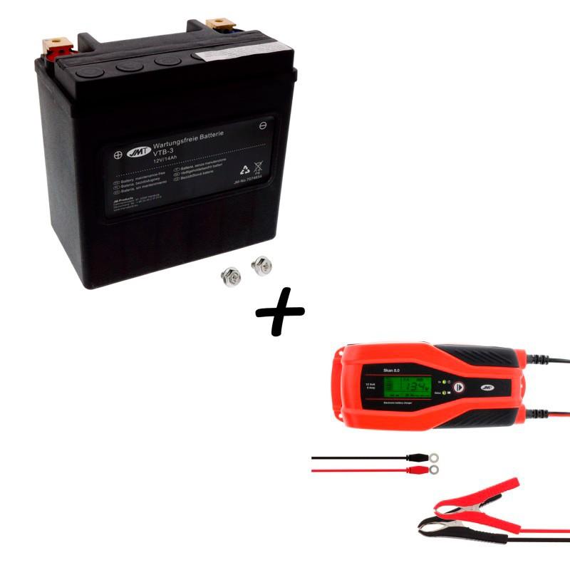 Bateria Harley Davidson BTL-3 65958-04A + Cargador JMP SKAN 8.0 Litio