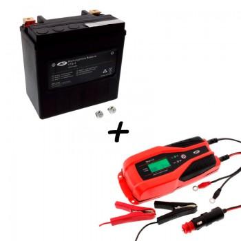 Bateria Harley Davidson BTL-3 65958-04A + Cargador JMP SKAN 4.0 Litio